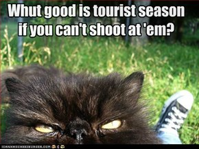 Whut good is tourist season if you can't shoot at 'em?