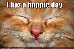 I haz a happie day.