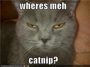 wheres meh  catnip?