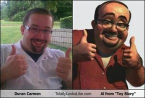 "Duran Carmen Totally Looks Like Al from ""Toy Story"""