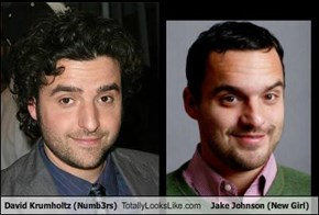 David Krumholtz (Numb3rs) Totally Looks Like Jake Johnson (New Girl)