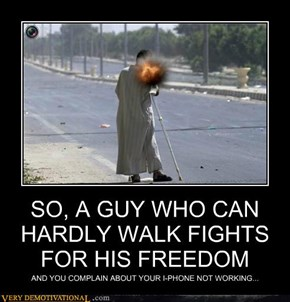 SO, A GUY WHO CAN HARDLY WALK FIGHTS FOR HIS FREEDOM