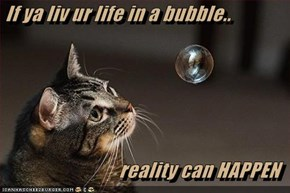If ya liv ur life in a bubble..  reality can HAPPEN