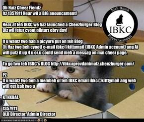 IBKC's BIG Anouncement