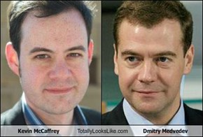Kevin McCaffrey Totally Looks Like Dmitry Medvedev