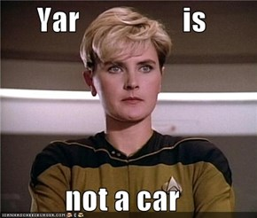 Yar                 is  not a car
