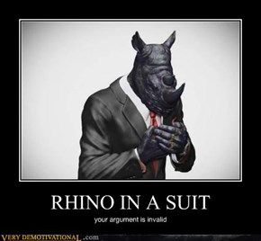 RHINO IN A SUIT