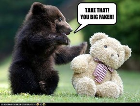 TAKE THAT!  YOU BIG FAKER!