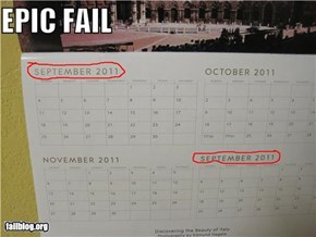 Monthly Calendar FAIL
