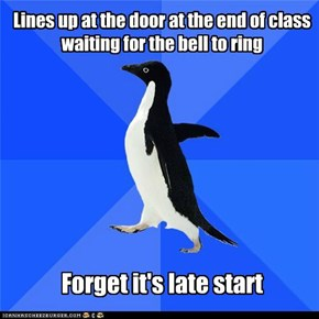 Socially Awkward Penguin: 3...2...1...awk