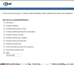 Even in 1995 no one used RealPlayer