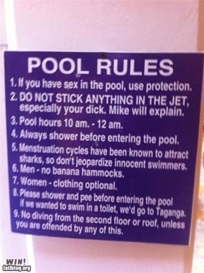 Pool Rules WIN