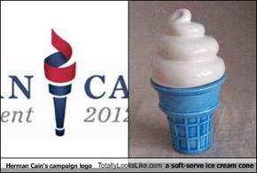 Herman Cain's campaign logo Totally Looks Like a soft-serve ice cream cone