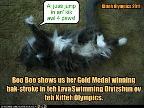 Kitteh Olympics 2011 Lava Swimming