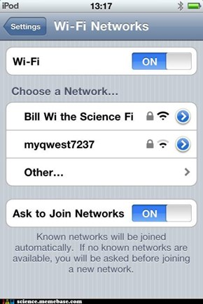 Good Wifi Name or Best Network Name?