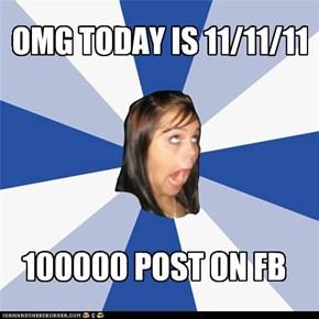 It's 1:11 on 11/11/11!!!1!!!1