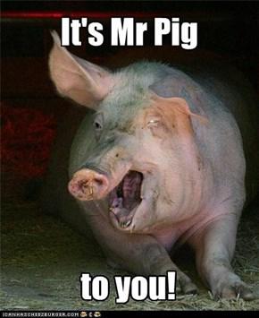 It's Mr Pig