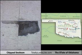 Chipped Linoleum Totally Looks Like The State of Oklahoma