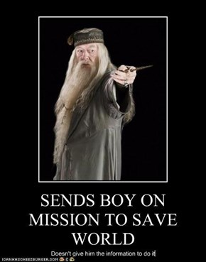 SENDS BOY ON MISSION TO SAVE WORLD