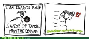 I am Dragonborn! Savior of Tamriel from the dragons!