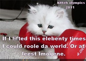 Imogene, Imogene...how do I lose you Imogene?