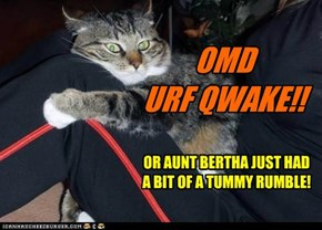 OR AUNT BERTHA JUST HAD A BIT OF A TUMMY RUMBLE!