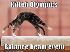 Kitteh Olympics    Balance beam event