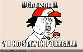 !!Charzard!!  Y U NO STAY IN POKEBALL!