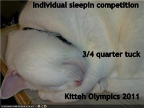 Individual sleepin competition 3/4 quarter tuck Kitteh Olympics 2011