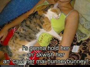Ai fownd her an' she's mien!