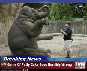 Breaking News - Game Of Patty Cake Goes Horribly Wrong