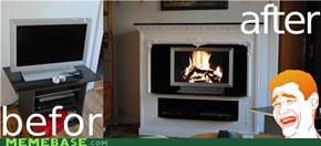 fireplace-TV!