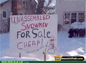 Unassenbled Snowmen