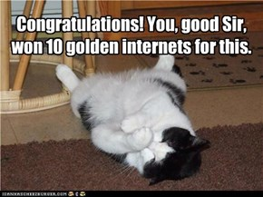 Congratulations! You, good Sir, won 10 golden internets for this.