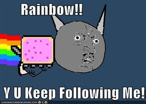 Rainbow!!   Y U Keep Following Me!!