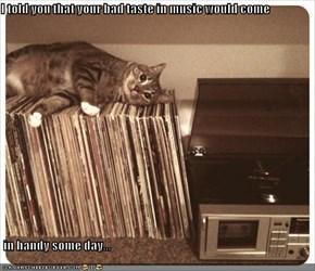 I told you that your bad taste in music would come   in handy some day...