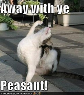 Away with ye  Peasant!