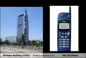 Movistar Building Totally Looks Like Old Cell Phone