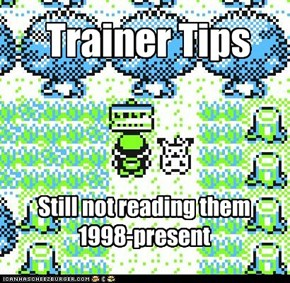 Trainer Tip: Don't Waste Time Reading Trainer Tips