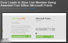 Microsoft Points Error WIN