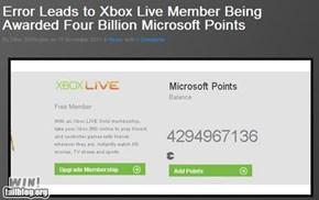 Microsoft Points Error WIN