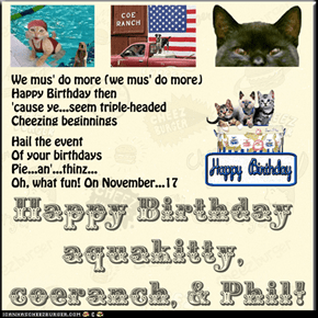 "Happy Birthday aquakitty, coeranch, & Phil! (TTO ""Edge Of Seventeen"" by Stevie Nicks)"