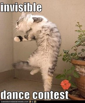 invisible  dance contest