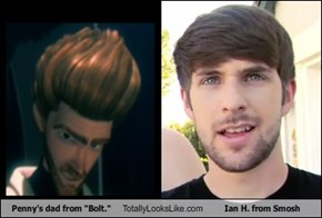 "Penny's dad from ""Bolt."" Totally Looks Like Ian H. from Smosh"
