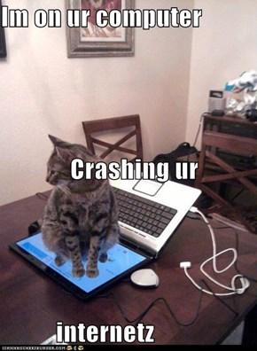 Im on ur computer Crashing ur internetz