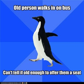 Socially Awkward Penguin Just Keeps Staring At Them
