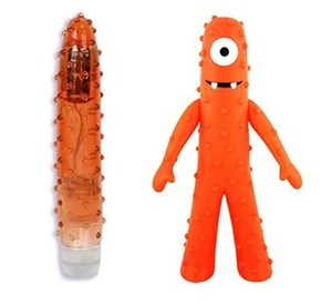 This vibrator totally looks like Muno from the kid show Yo Gabba Gabba