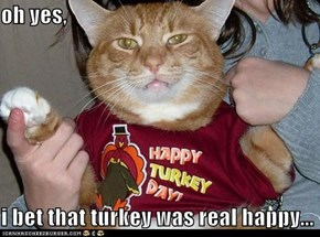 oh yes,  i bet that turkey was real happy...