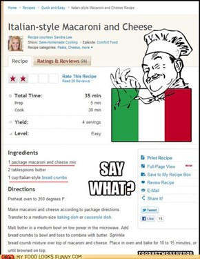 Well Now, That DOES Sound Italian!