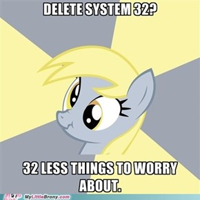 Derpy Accidentally Her Computer